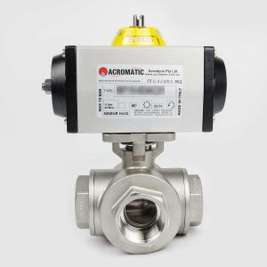3-Way L-port flanged Ball Valve