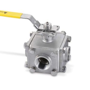 4-way L/T-port flanged Ball Valve