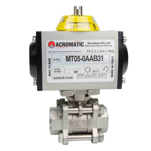 Pneumatic DA MT05-0AAB31-V020 Pneumatic Actuated Ball Valve Kit