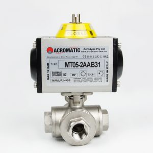 3-Way L-Port Package MT05-2AAB31-KL015 Pneumatic Actuated Ball Valve Kit
