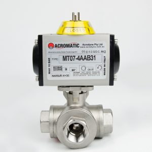 3-Way T-Port MT07-4AAB31-KT020 Pneumatic Actuated Ball Valve Kit