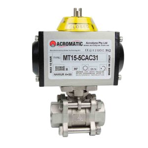 Pneumatic Actuator Valve Standard Package MT15-5CAB31-V020 Pneumatic Actuated Ball Valve Kit