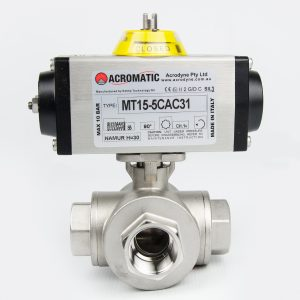 3-Way L-Port Package MT15-5DAC31-KL025 Pneumatic Actuated Ball Valve Kit
