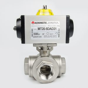 3-Way L-Port Package MT20-5DAD31-KL032 Pneumatic Actuated Ball Valve Kit