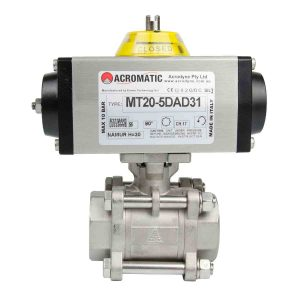 Pneumatic Actuator Valve Standard Package MT20-5DAD31-V032 Pneumatic Actuated Ball Valve Kit