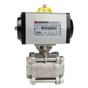 Pneumatic Actuator Valve Standard Package MT30-5DAD31-V050 Pneumatic Actuated Ball Valve Kit