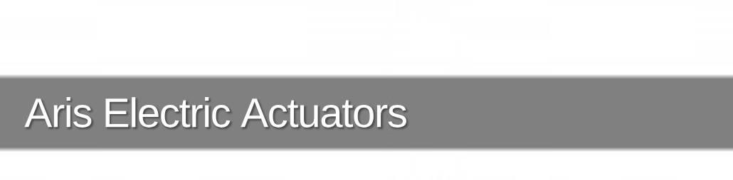 Aris Electric Actuators